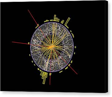 Proton Collision Canvas Print