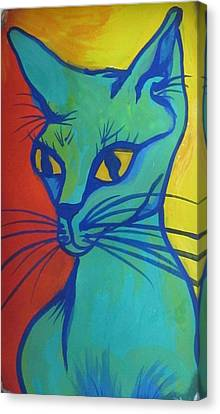 Proud Cat Canvas Print by Cherie Sexsmith