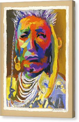 Proud Native American Canvas Print by Stephen Anderson