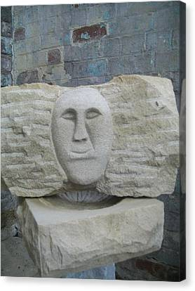 Proud Smiling Face Canvas Print by Stephen Nicholson