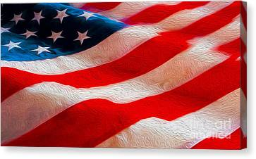Proud To Be American Canvas Print by Jon Neidert