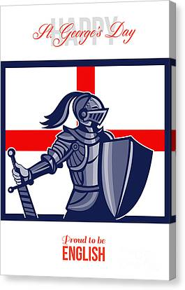 St George Day Canvas Print - Proud To Be English Happy St George Day Card by Aloysius Patrimonio