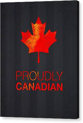 Proudly Canadian Canvas Print by Aged Pixel