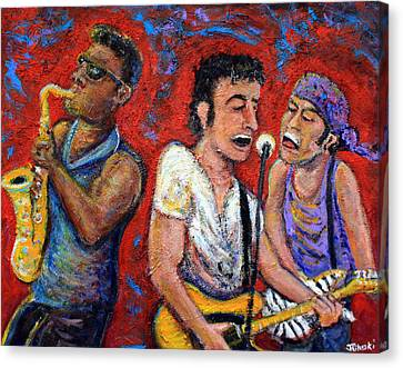 Roll Canvas Print - Prove It All Night Bruce Springsteen And The E Street Band by Jason Gluskin