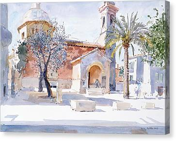 Provencal Church Canvas Print by Lucy Willis