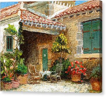 Provence Barn, 2006 Oil On Board Canvas Print