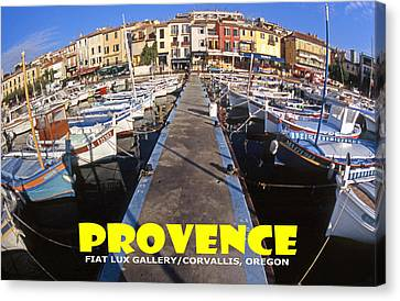 South Of France Canvas Print - Provence Fisheye View II by Michael Moore