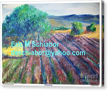 Provence Lavender Field Canvas Print by Eric  Schiabor