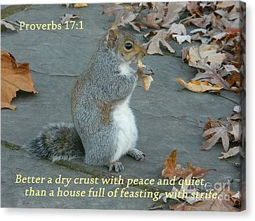 Proverbs 17-1 Canvas Print by Emmy Marie Vickers