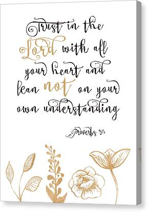 Proverbs 3-5 Canvas Print by Tara Moss