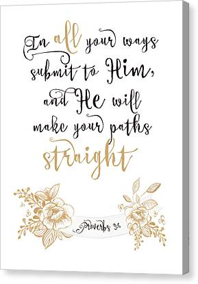 Proverbs 3-6 Canvas Print by Tara Moss
