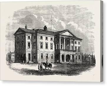 Province Building, Charlotte Town, Prince Edward Island Canvas Print
