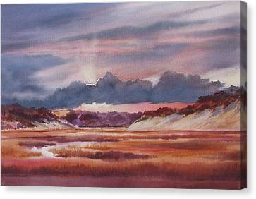 Canvas Print featuring the painting Provincelands by Karol Wyckoff