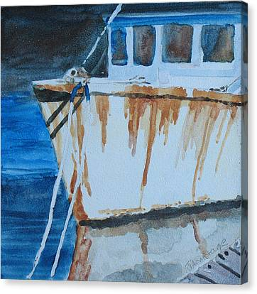 Prow Reflected Canvas Print by Jenny Armitage