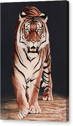 Canvas Print featuring the painting Prowl by DiDi Higginbotham