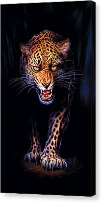 Leopard Canvas Print - Prowling Leopard Crop 1 by Andrew Farley