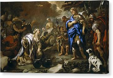 Prudent Abigail Canvas Print by Luca Giordano