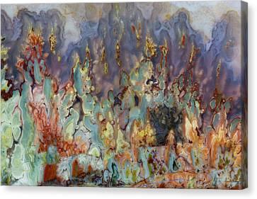 Prudent Man Agate, Origin Idaho Canvas Print