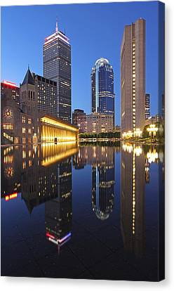 Prudential Center At Night Canvas Print by Juergen Roth