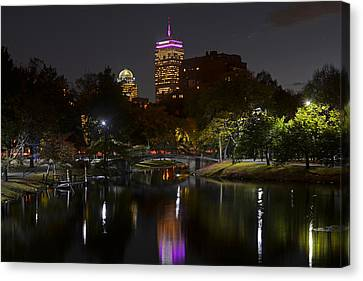 Prudential Over The Charles River Canvas Print by Toby McGuire