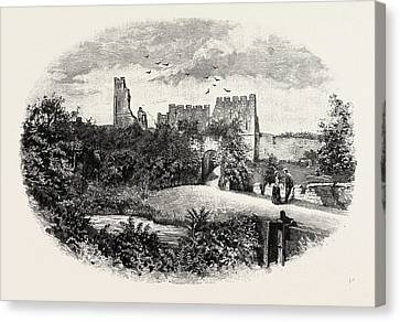 Prudhoe Castle,  Is A Ruined Medieval English Castle Canvas Print by English School
