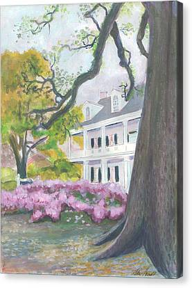 Prudhomme-rouquier House In Natchitoches Canvas Print by Ellen Howell