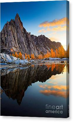 Prusik Reflection Canvas Print by Inge Johnsson