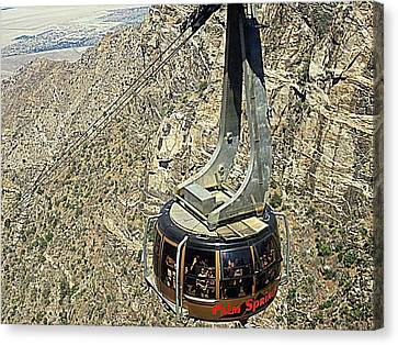 Ps Aerial Tram 18 Canvas Print by Ron Kandt