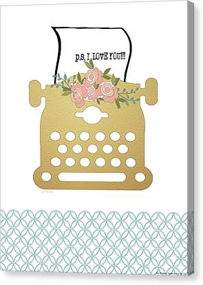 P.s. I Love You Canvas Print by Jo Moulton