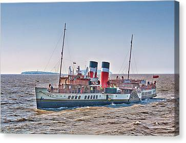 Ps Waverley Approaching Penarth Canvas Print by Steve Purnell