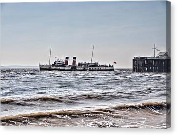 Ps Waverley Leaves Penarth Pier Canvas Print by Steve Purnell