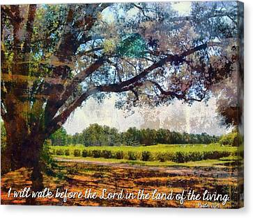 Psalm 116 9 Canvas Print by Michelle Greene Wheeler