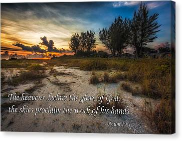 Psalm 19 Canvas Print