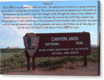 Psalm 23  Canyonlands N P Canvas Print