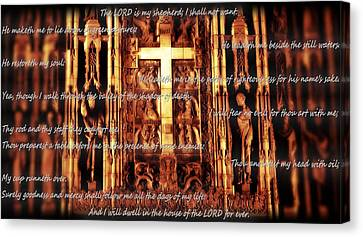 Psalm 23 Church Interior Canvas Print