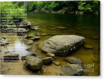 Psalm 23 Cranberry River Canvas Print