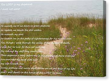 Psalm 23 Path  Canvas Print by Dan Sproul