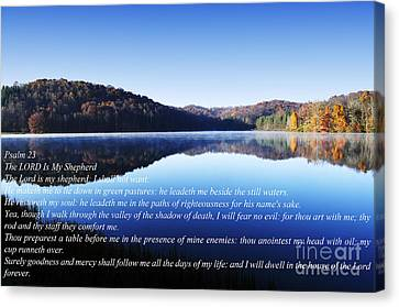 Psalm 23 Canvas Print by Thomas R Fletcher