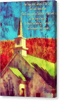 Psalm 27 4 Canvas Print