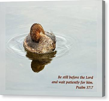 Psalm 37 7 Canvas Print