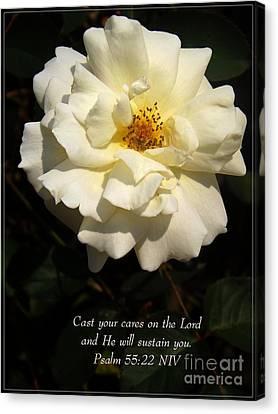 Psalm 55 22 Canvas Print by Sara  Raber