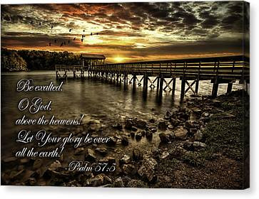 Psalm 57-5 Canvas Print