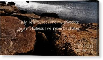 Psalm 62 Canvas Print