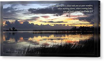 Psalm 65 8 Canvas Print by Dawn Currie