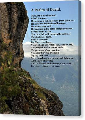 Psalm Of David Canvas Print