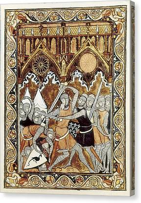 Psalter Of Saint Louis 13th C.. Abraham Canvas Print by Everett