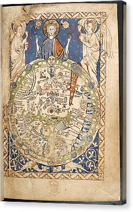 Psalter World Mappa Mundi Canvas Print by British Library