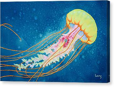 Psychadelic Jelly Canvas Print by Jeff Lucas
