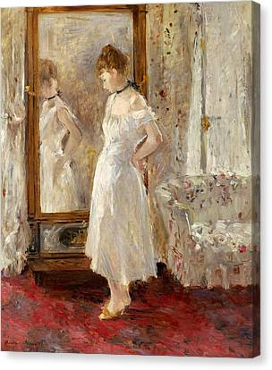 Psyche Canvas Print by Berthe Morisot