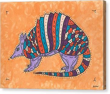 Psychedelic Armadillo Canvas Print
